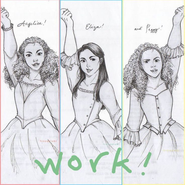 The Schuyler Sisters Fanart<<< two of my choir friends and I have assigned us each a sister. I'm Eliza