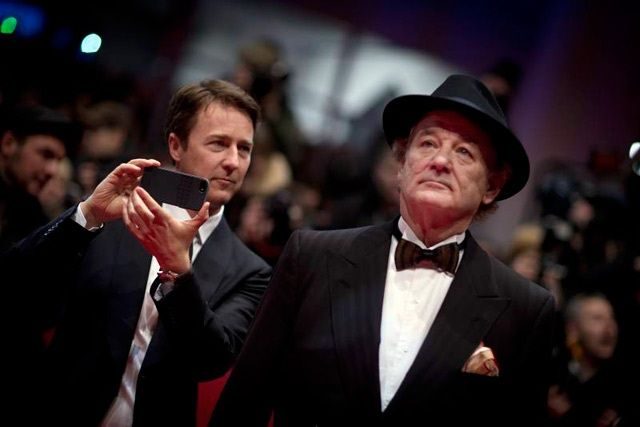 Selfie Bill Murrey and Edward Norton