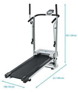 Pro Fitness Manual Treadmill/Cross Trainer