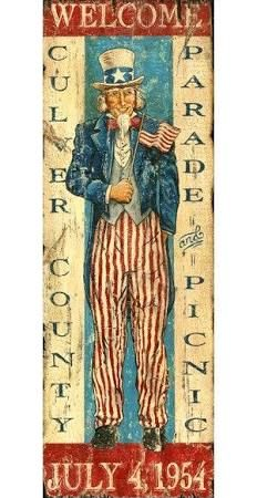 uncle sam vintage decor - patriotic home