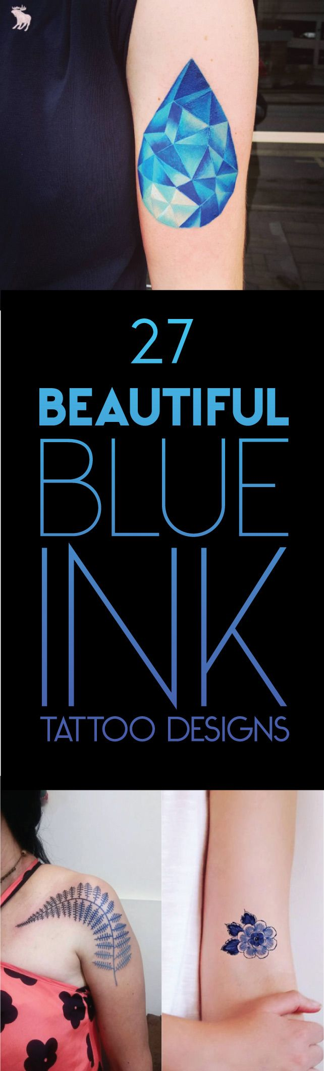 27 Beautiful Blue Ink Tattoo Designs | TattooBlend