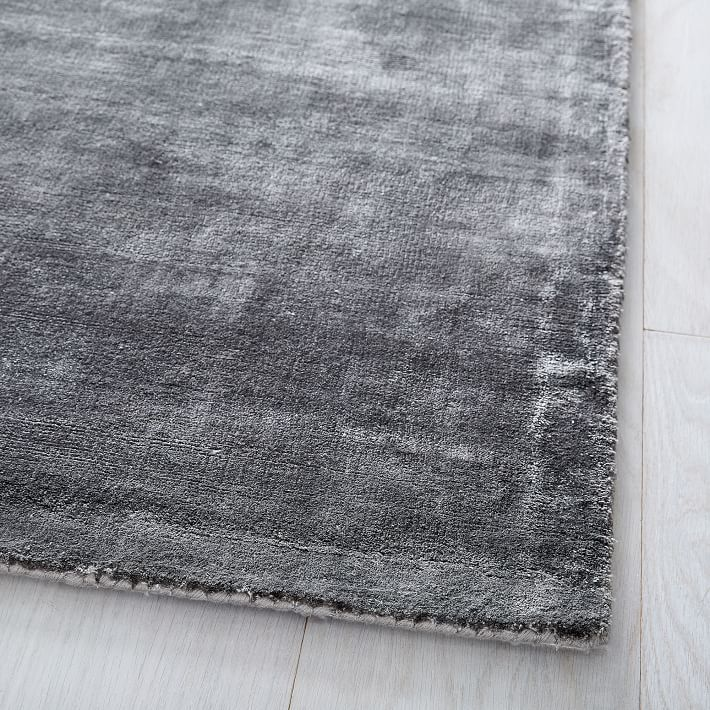 Lucent Rug Pewter West Elm Rugs Rugs On Carpet Solid Rugs