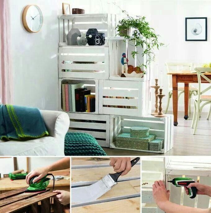Usando cajas dectomates se puede crear un ambiente simpático