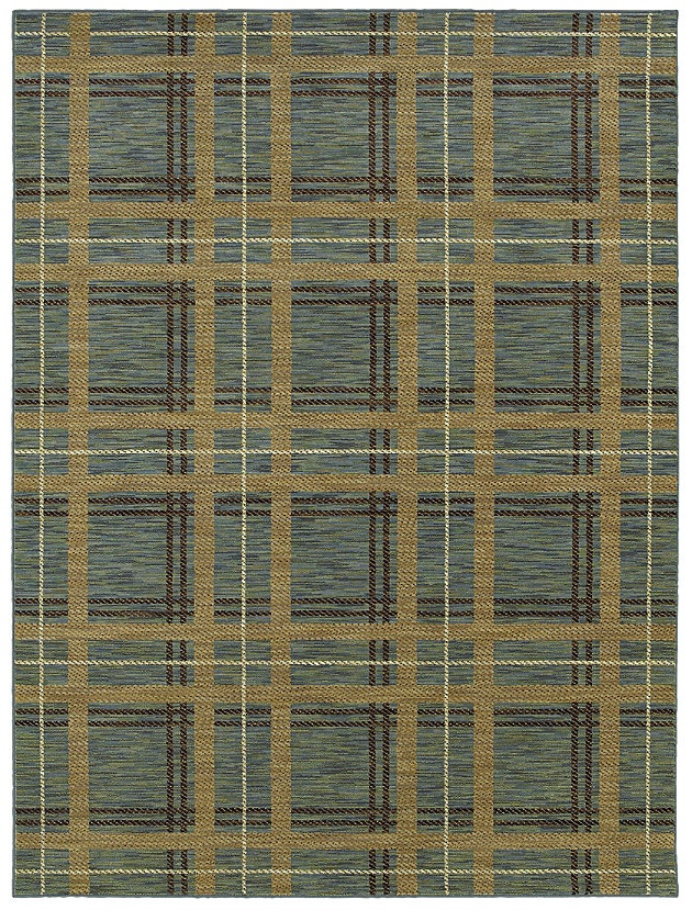 HGTV Home Area Rug In Style Forever Plaid