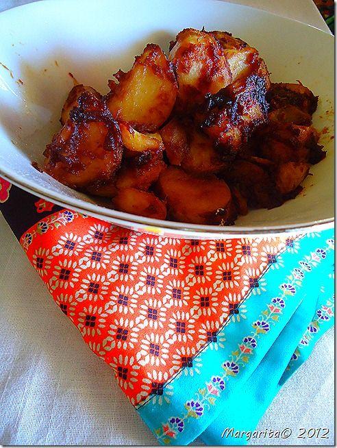 Καραμελωμένες πατάτες Σεντσουάν