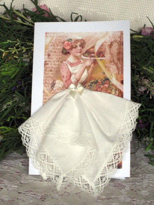 Give Thanks Keepsake Hanky Card by onceuponahanky on Etsy, $8.00