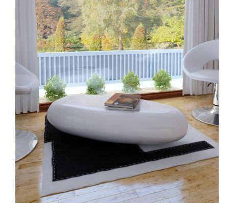 Sidebord glasfiber i hvid