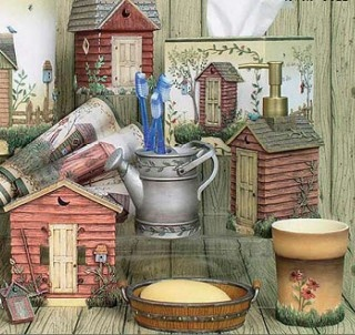 Outhouses Bath Accessories Country Decor | Country Cottage Decor