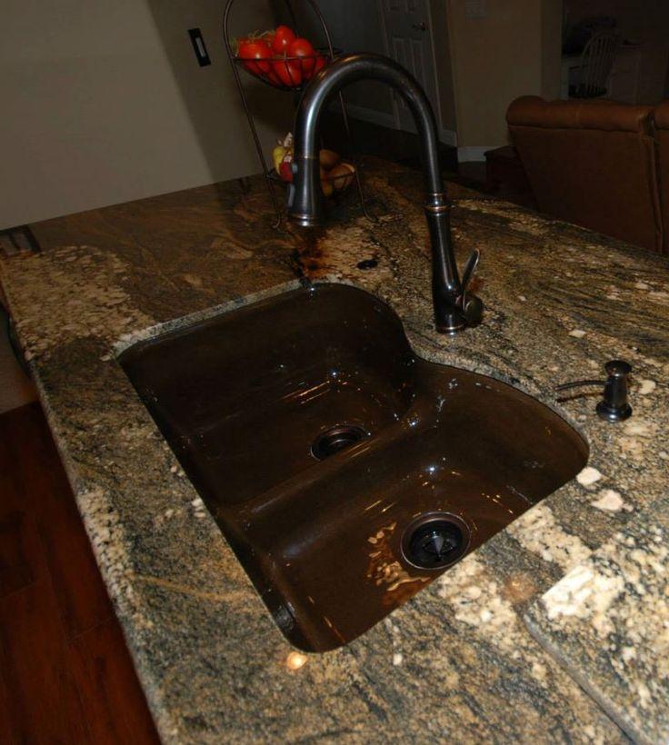 Kohler Langlade In Black Amp Tan In Tiramisu Granite With