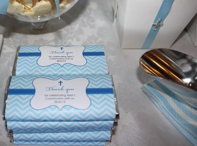 Holy Communion choc wrappers