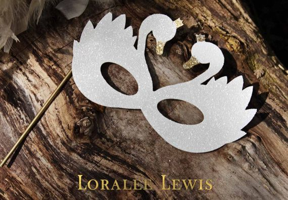 Swan Lake Glitter Masks by Loralee Lewis by LoraleeLewis on Etsy
