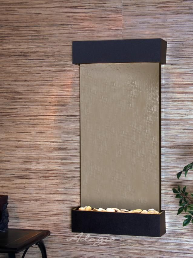 Adagio Whispering Creek Wall Fountain Mirror Texture Tabletop Fountain Bronze Mirror