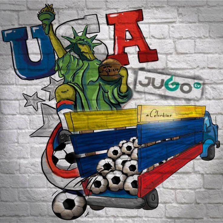 StreetArt Estados Unidos Brasil #somosJUGOtv