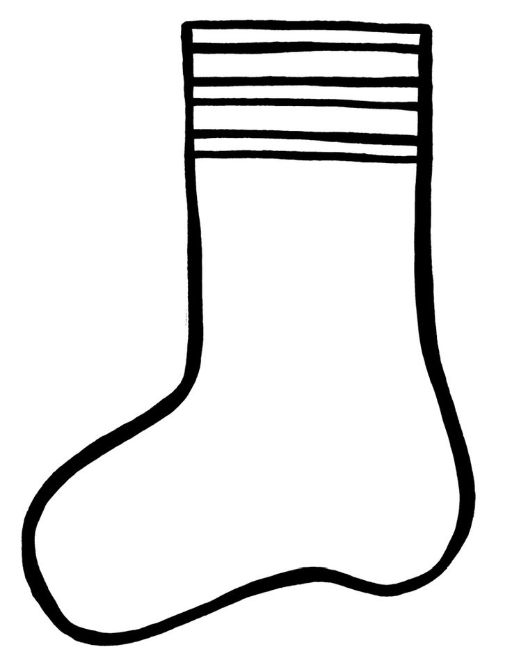 picture of socks coloring pages - photo#29