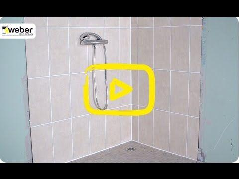 Réaliser une douche à l'italienne : étanchéité, formes de pentes et pose de carrelage - YouTube