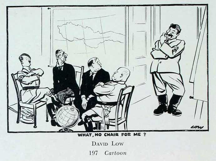 The Soviet Union is excluded from the 1938 Munich Agreement, by David Low