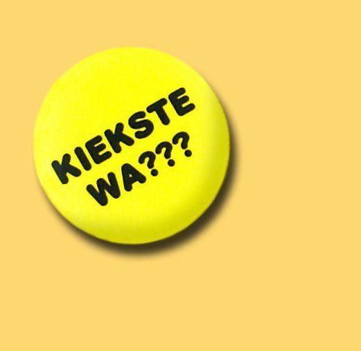 Button Kiekste Wa? gelb von MAD IN BERLIN auf DaWanda.com