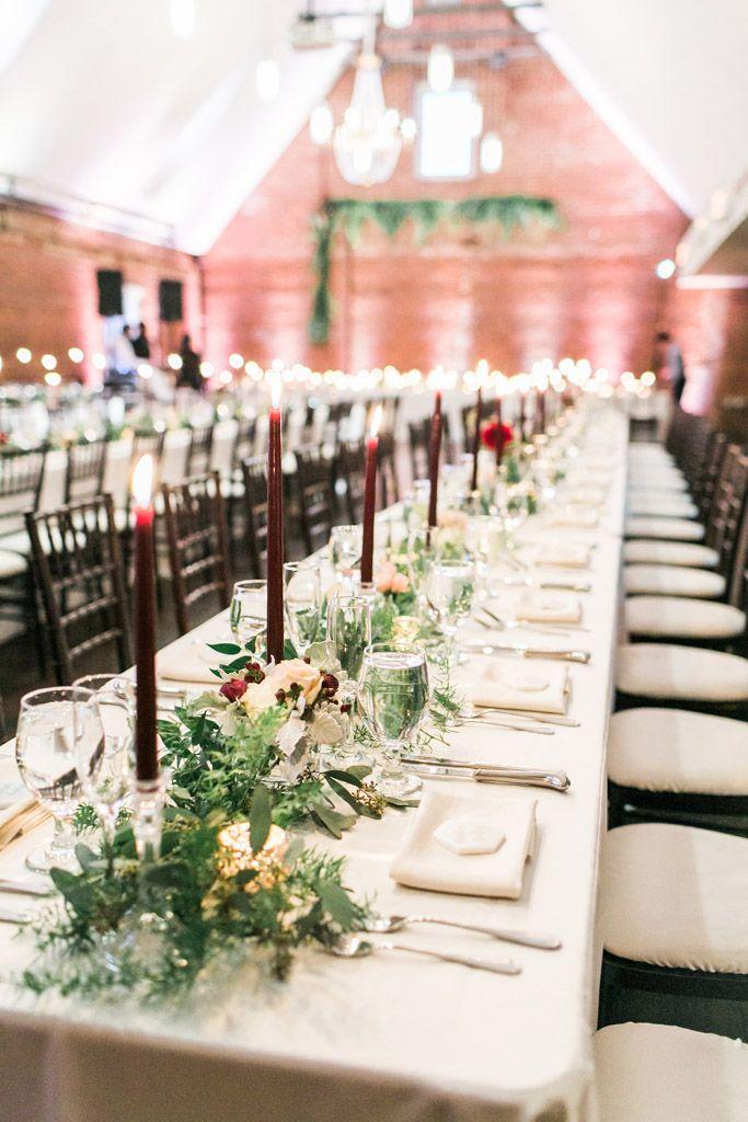 Top Of The Hill Great Room Winter Wedding For Unc Alums Minimalist Wedding Reception Nc Wedding Venue Southern Bride