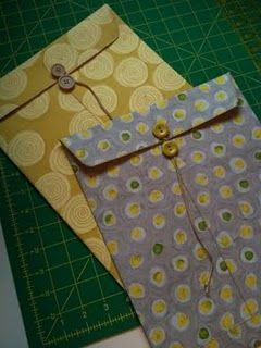 Tutorial for fabric envelopes!  Cool!
