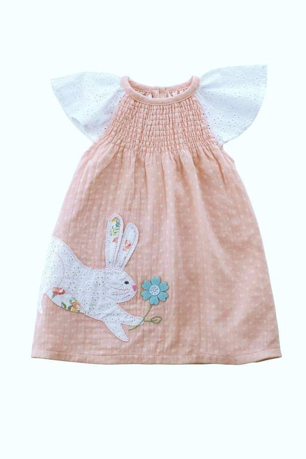 Mud Pie Bunny Smocked Dress. Perfect baby girl Easter dress. #affiliate