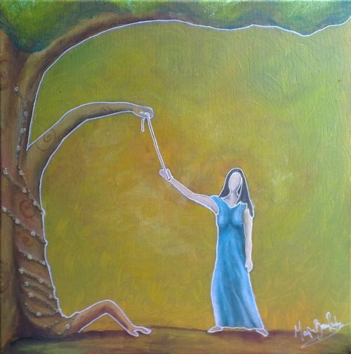 """ bound "" 40 x 40 acryl canvas"