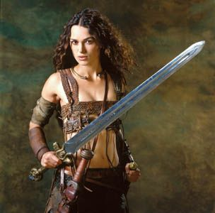 """Keira Knightley portrays the character of Guinevere in the movie """"King Arthur""""....... Keira just looked so unlike I imagined Guinevere looked with the sword and the bow! She did a good job."""