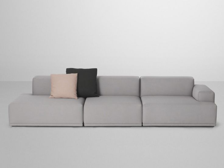Soft Grey Color Small Modular Sofas With Black And Soft Pink Pillow Color Modern Modular Sofas For Small Space Modern Living Room Ideas Interior Design, Sofa, Furniture, Living Room and Lounge modular rattan sofas. modular sofa kingston. modular sofa bed melbourne.