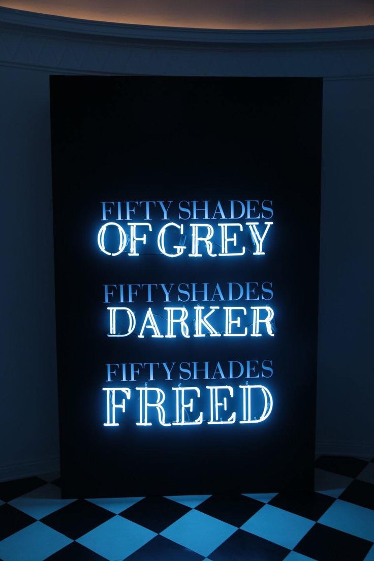 An exhibit at the Fifty Shades pop up in LA