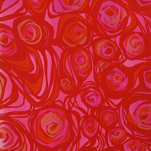 Marjatta Metsovaara kelpuutti ruusun kankaidensa aiheeksi, mutta tyylitteli siitä modernin ja täyden kuviopinnan. Ruusu-kankaan kuviot kudottiin Tampellassa myös damastipöytäliinoiksi sekä Belgiassa jacquard-kudontana sisustustekstiileiksi.
