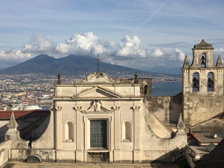 Vesuvius from castle San Elmo