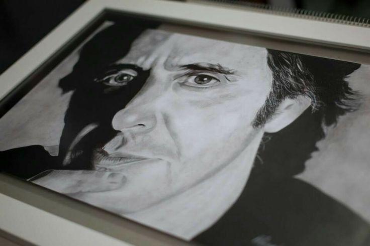 Al Pacino en grafito sobre papel