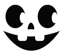 Halloween Pumpkin Carving Template: Smiley Face