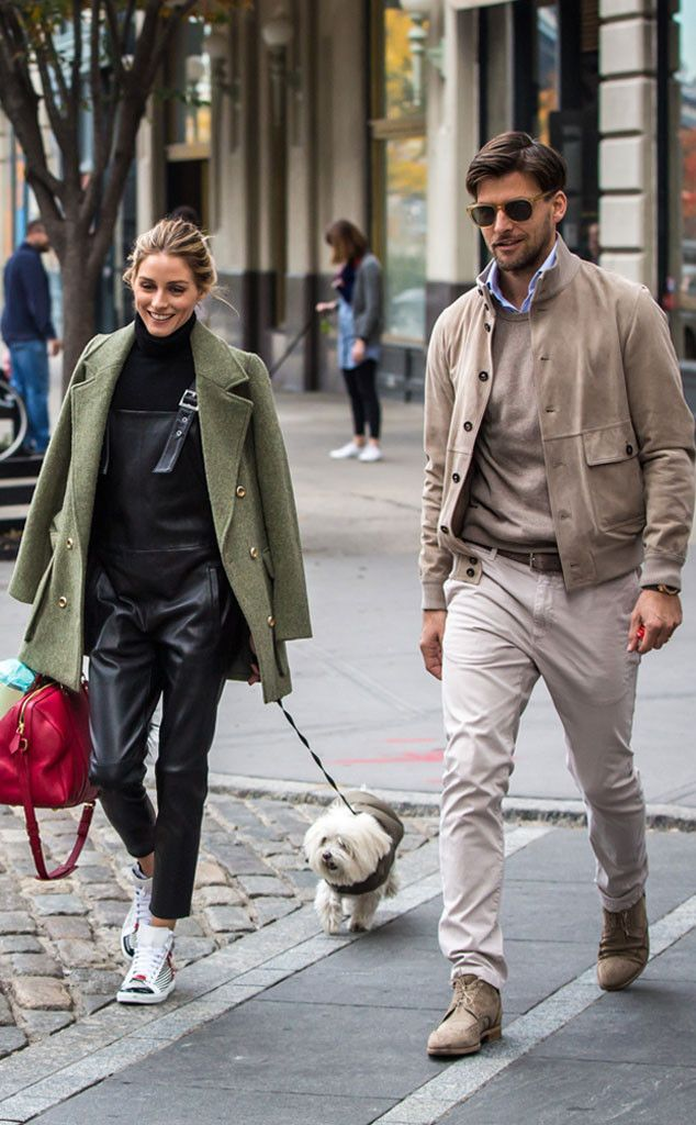 Olivia Palermo & Johannes Huebl from The Big Picture: Today's Hot Pics Puppy love: The couple takes their cute dog for a walk in New York City.