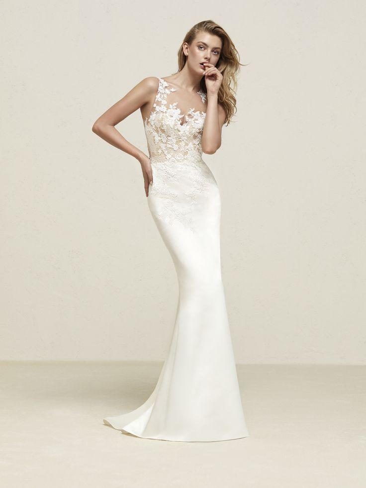 Wedding dress illusion bodice