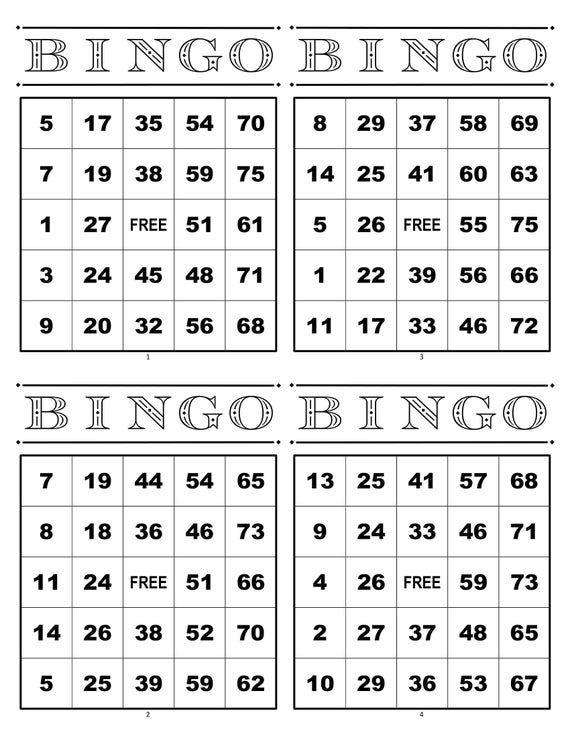 Pin On Free Printable Bingo Cards
