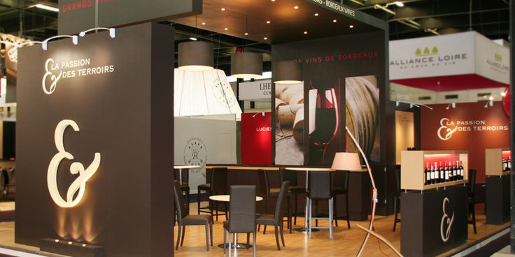La passion des terroirs stand vinexpo bordeaux etudes for Montage stand