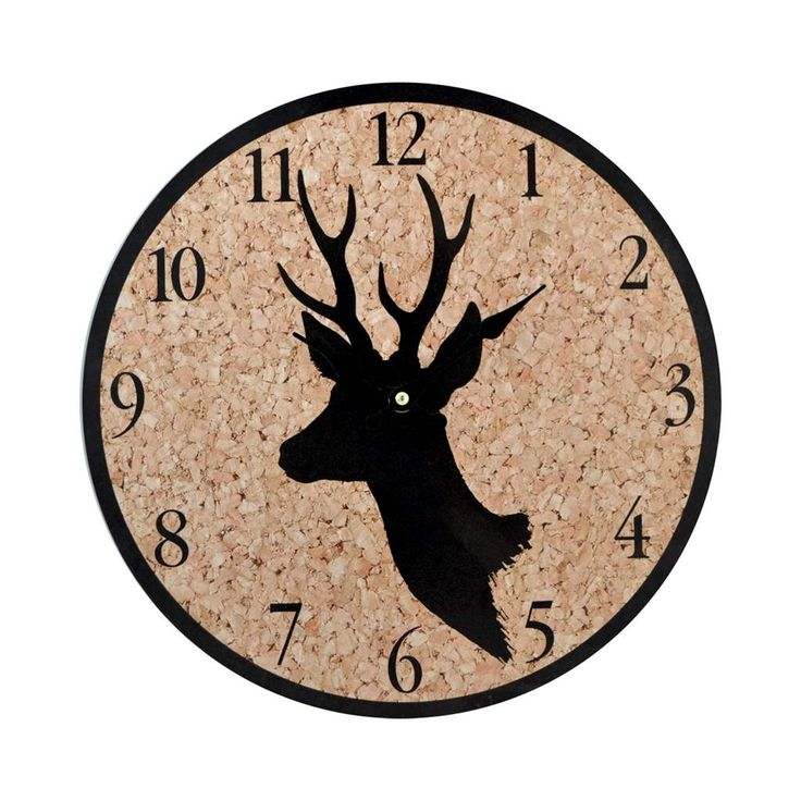 clock deer cork