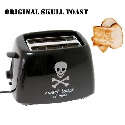 Totenkopf Skull Toaster- Burns a Skull and Crossbones in Your Toast