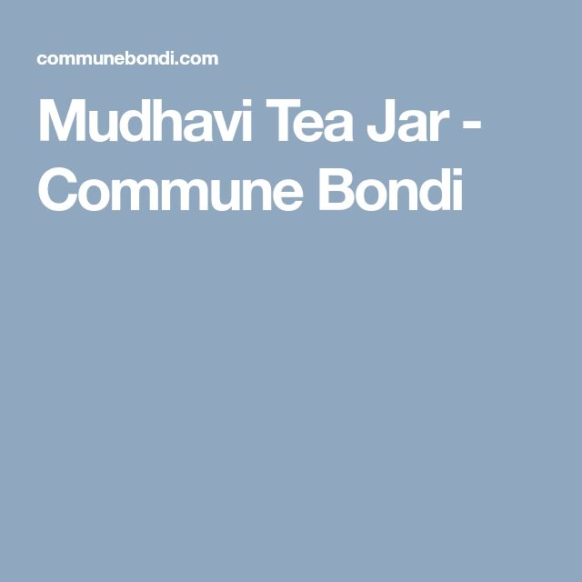 Mudhavi Tea Jar - Commune Bondi
