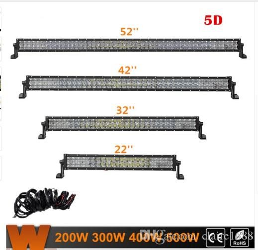 "Offroad Led Work Light 22"" 32"" 42"" 52"" 5D Straight LED Light Bar With CREE Chips Combo Beam for Jeep Truck ATV SUV 4WD - $108.99"