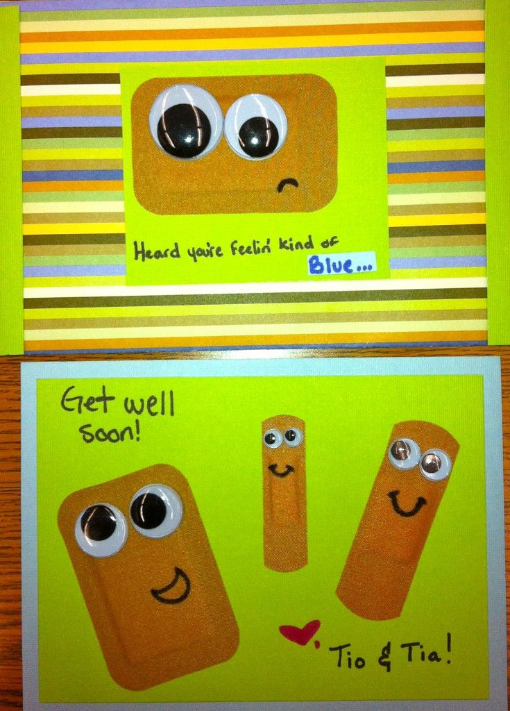 Get Well Card that would be easy for little kids to make for their friends :)