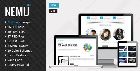 Nemu - Responsive HTML5 Template