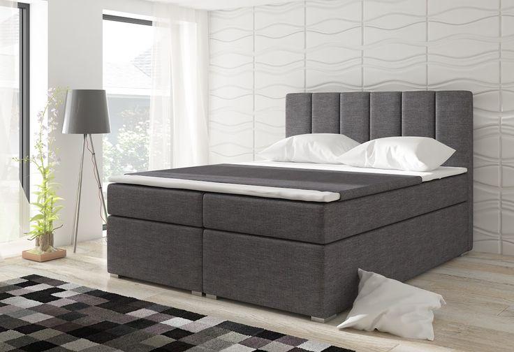 Moderná manželská posteľ, kde každodenné vstávanie aj pre staršie osoby je radosť vďaka výške ložnej časti postele, ktorá je 60cm. Posteľ má moderný