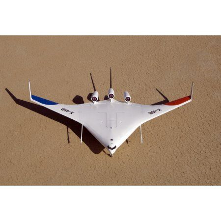 X-48B Blended Wing Body unmanned aerial vehicle Canvas Art - Stocktrek Images (34 x 23)