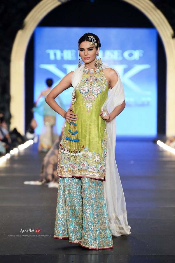 Pakistan PFDC L'Oreal Bridal Fashion Week 2013 – Kamiar Rokni https://www.facebook.com/TheHouseOfKamiarRokni Garara