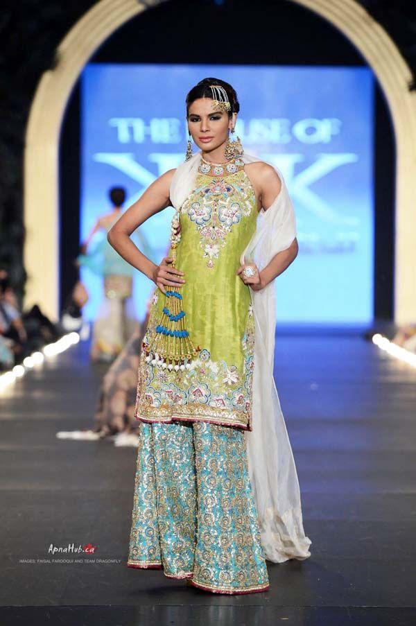 Pakistan PFDC L'Oreal Bridal Fashion Week 2013 – Kamiar Rokni https://www.facebook.com/TheHouseOfKamiarRokni Garara