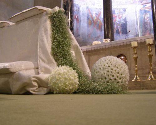 Allestimenti floreali per la chiesa Bottega dei Fiori, Roma.