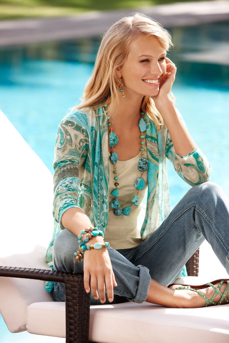 Light as a feather: Paisley Swirl Danlee Cardigan. #DestinationFabulous #sping #chicos