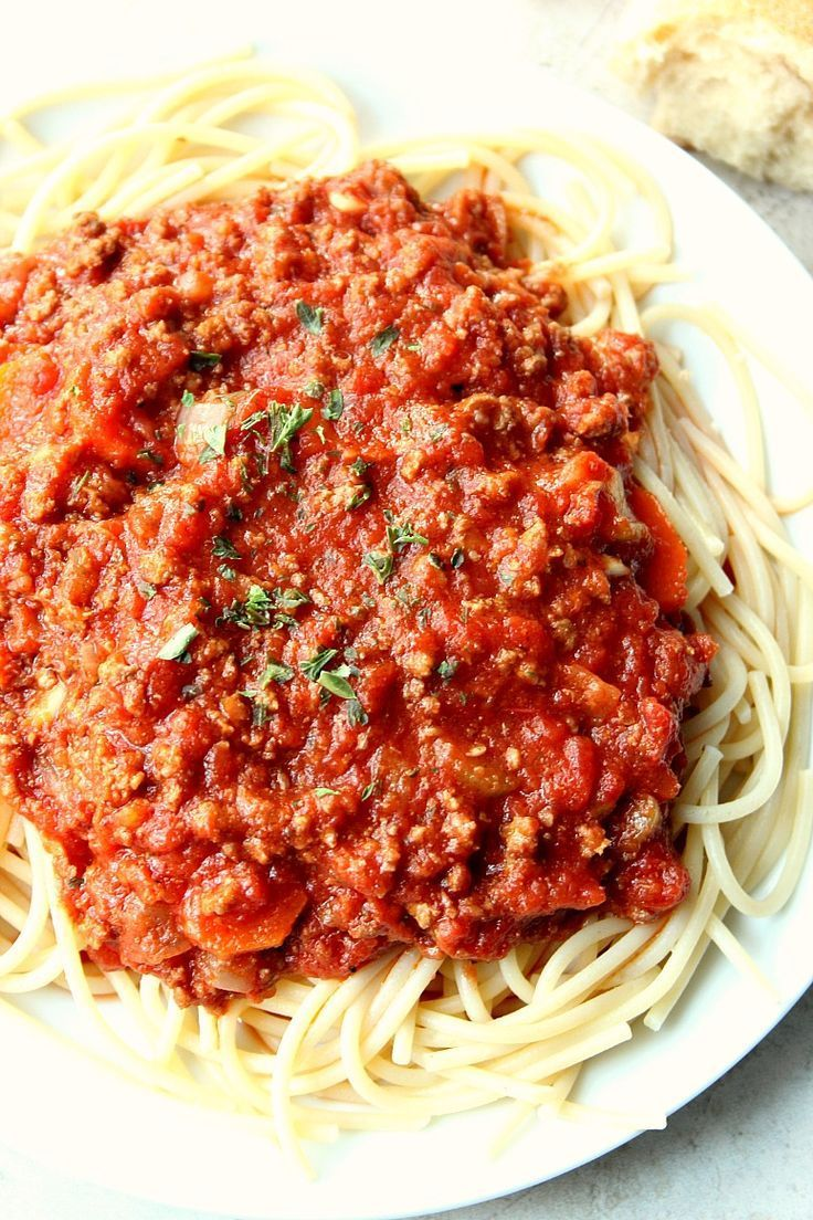 Slow Cooker Bolognese Sauce Recipe The Best Pasta Sauce Ever Rich And Deep In Flavor Slow Cooker Bolognese Slow Cooker Bolognese Sauce Slow Cooker Spaghetti