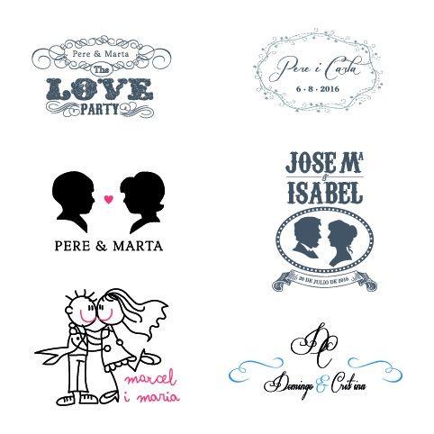 logos boda · iniciales novios · personalizar boda | Proyectos que ...
